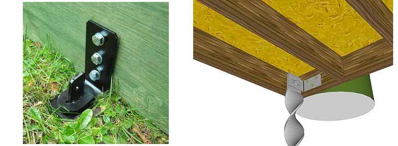 Diferentes maneras de anclar una caseta de jardín al suelo
