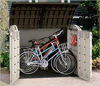 Caseta de plástico para guardar bicicletas