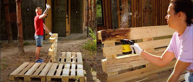 Palets para construir caseta de jardín