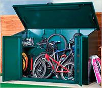 Cobertizo metálico para guardar bicicletas
