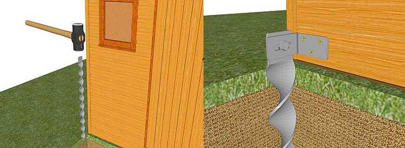 Cómo anclar una caseta de jardín al suelo