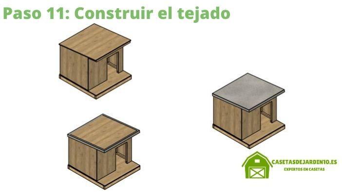 Cómo construir una caseta para perros paso 11