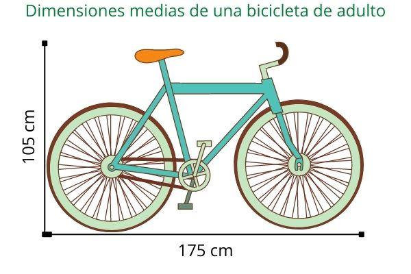 Dimensiones de una bicicleta de adulto