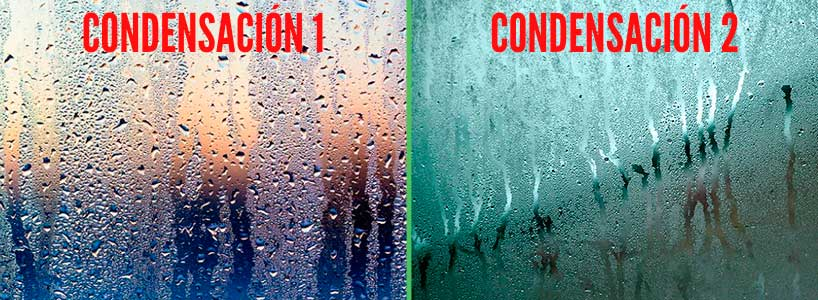 Humedad por condensación en ventana