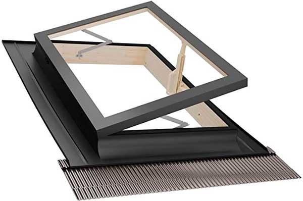 Iluminación de un cobertizo con claraboyas