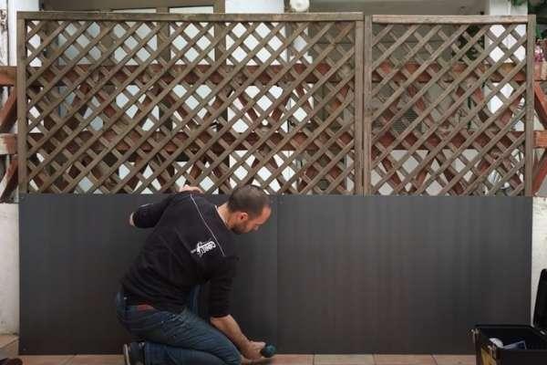 Construir jardín vertical: Paso 1