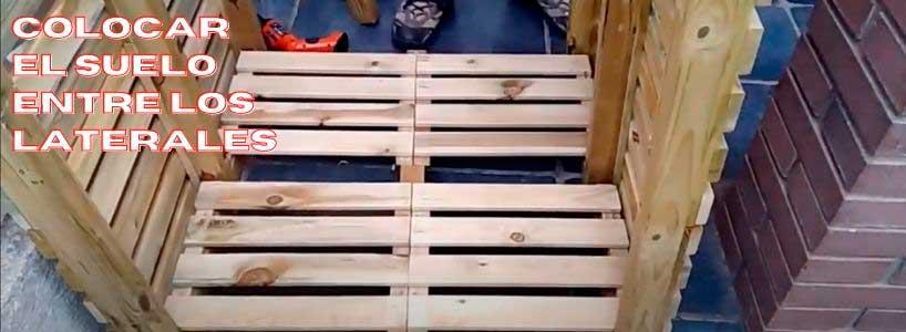 construir una caseta para guardar leña con palets