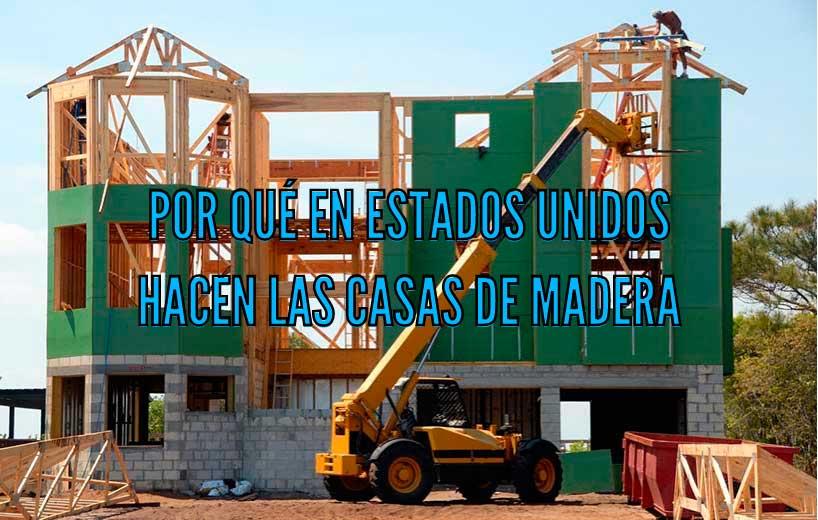 Casa de madera en construcción