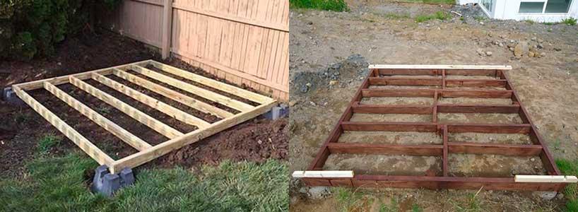 Qué suelo poner en una caseta de jardín: Bloques de hormigón soterrados