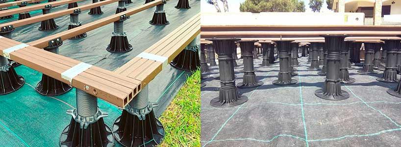 Qué suelo poner en una caseta de jardín: Plots regulables
