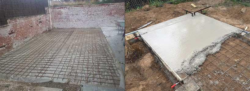 Qué suelo poner en una caseta de jardín: Solera de hormigón