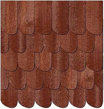 Tejado de plancha de madera para caseta de jardín